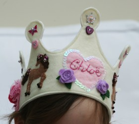 Felt Ribbon Tied Crown