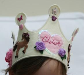 Felt Ribbon Tied Crown