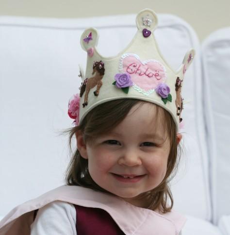 Ribbon Tied Felt Crown