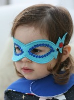 Felt Superhero Mask with red star buttons