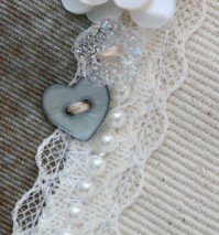 Mother of Pearl Heart Buttons