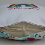 Concealed zipper at the bottom (organic cotton cushion pad)