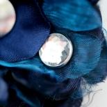 Dark Blue Flower Detail
