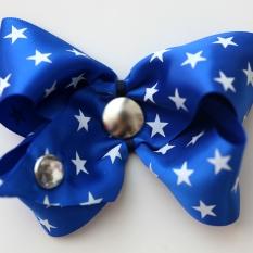 Blue with Stars Satin