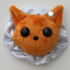 Cat Plushie - Ginger With Party Holo Ruffle