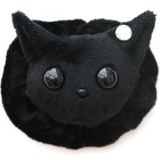 Cat Plushie - Black With Matching Ruffle