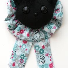 Cat Plushie Black - Rosette Ruffle