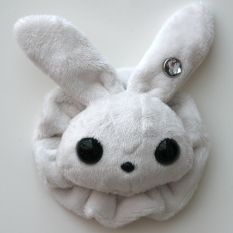 Rabbit Plushie - White With Matching Ruffle