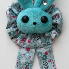 Rabbit Plushie Aqua - Rosette Ruffle