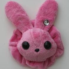 Rabbit Plushie - Pink With Matching Ruffle