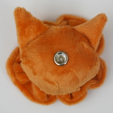 Cat Plushie - Ginger With Matching Ruffle Reverse