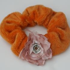 Popper Charm Hair Scrunchie - Ginger